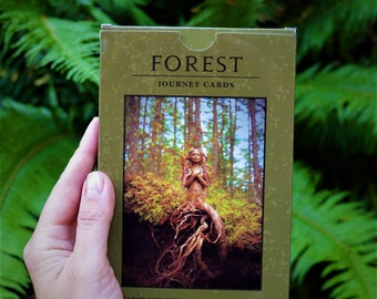 Journey Cards, Forest Deck, Art Collection with Guidance Questions by Debra Bernier, ShapingSpirit