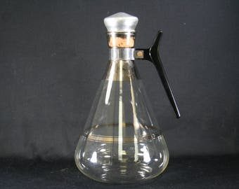 Vtg Atomic Age Glass Coffee Carafe