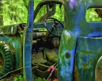 Deserted Truck, Antiques, Wall Art
