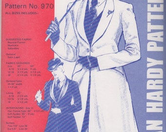 Misses' Saddle Seat Coat- Equestrian Sewing Pattern Jean Hardy 970- OUT OF PRINT