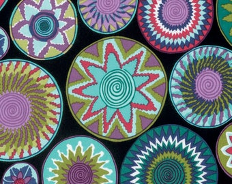Tribal by Snow Leopard Designs for Free Spirit - Bharati - Amazon Black - 1/2 Yard Cotton Quilt Fabric