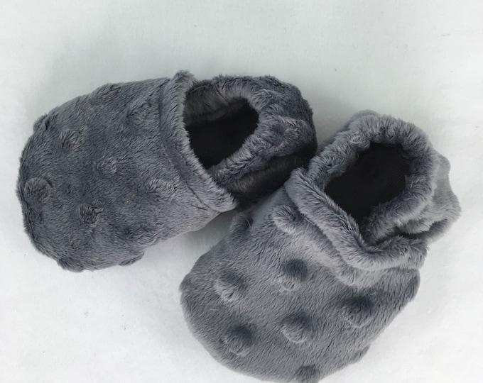 Baby and Toddler items, Baby shoes, crib booties, Minky booties, custom order color