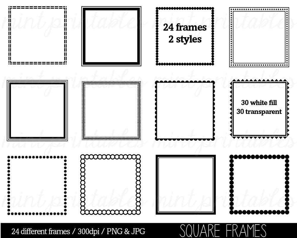 Square Frames Clipart Clip Art Borders