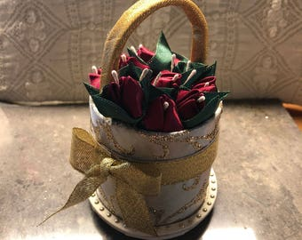 Kanzashi Flower Bud Basket