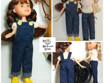 Make under Bratz Doll Sewing Pattern- Overalls and Jeans
