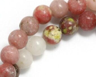 Pink Lepidolite Beads - 8mm Round