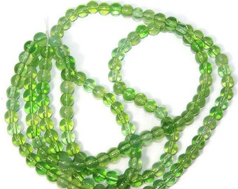 Vintage Glass Beads/6mm/Jewelry Supplies/ Findings/Beads/Sassy Silks