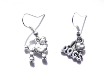 Poodle Earrings, I Love Poodles Jewelry, Dog Earrings, French Poodle Earrings, Dog Jewelry, Gifts for Dog Lovers, Poodle Gift