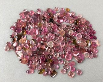 Pink Tourmaline Gemstone Cabochons - 10g Wholesale Parcel Lot