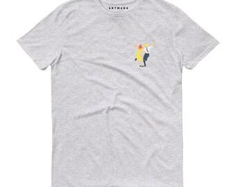 T-shirt La La Land. Unisex. 100% organic cotton. printed t-shirt, illustration, portrait, minimalist, cult film, emma stone, ryan gosling