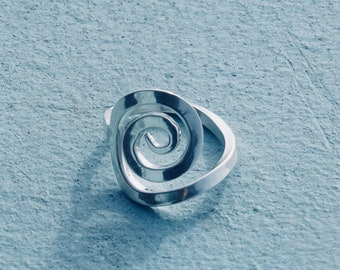Sterling Silver Spiral Ring