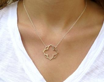 Lotus Silver Pendant Necklace