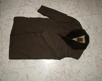 Coat fur collar man