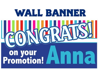 Congrats Banner ~ Personalized Party Banners, Congratulations Banner, Custom Banner, Vinyl Banners, Printed Banners