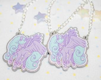 Carousel Alicorn Necklace