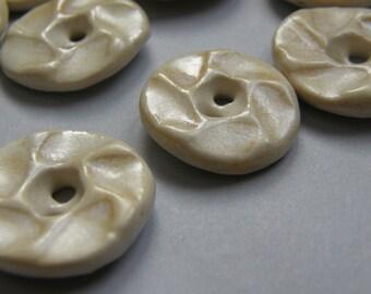 Porcelain buttons--pale orange