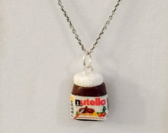 Polymer clay charm - Miniature Jar of Nutella