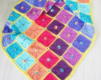 Crochet Pattern, Squarilicious Blanket, Baby, Afghan, Throw