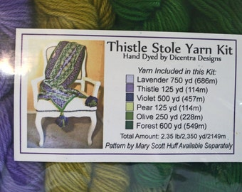 Mary Scott Huff Thistle Stole Yarn Kit