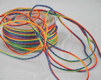 Multicolored woven cord by the yard