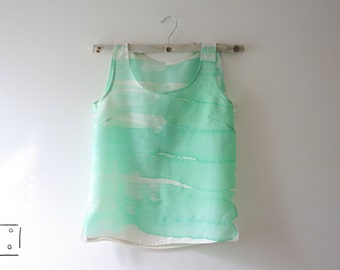 Hand painted 100% silk top