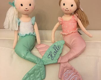 Monogrammed Mermaid Doll