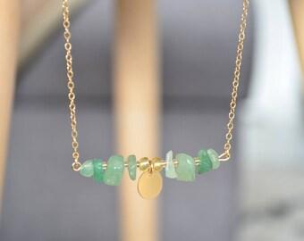 Collier MAESI vert d'eau