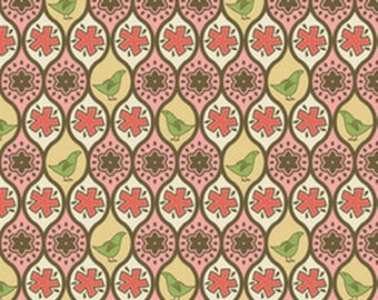 PEAR TREE from Andover fabric pink patchwork fabric-