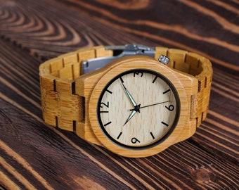 Wooden Watch Women Watch Personalized Watch Engraved Watch Wedding Gift Ladies Wrist Watch Birthday Gift Watch Watch for Wedding Christmas