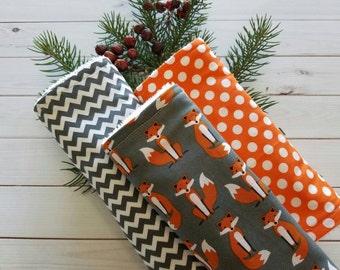 Fox Burp Cloth, Burp cloth,  fox shower gift, Baby boy burp cloth, burp cloth boy, fox baby, Baby boy gift