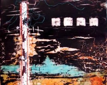 SALE~Encaustic Painting End Too
