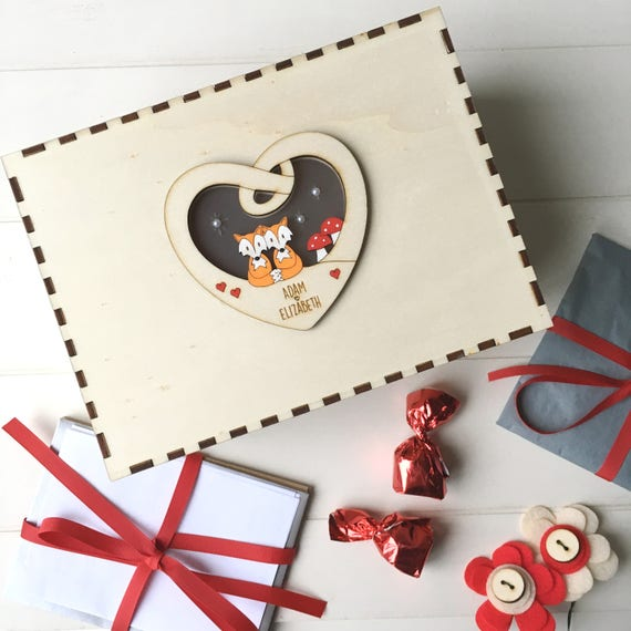 Couple's keepsake box - Valentine's box - Personalised keepsake box - Love box