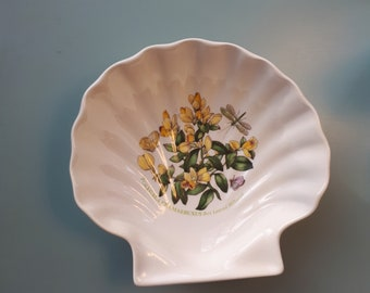 Portmeirion Botanic Garden Boxed Leaved Milkwort Shell Shape Dish Susan Ellis England Soap Candle Jewellery