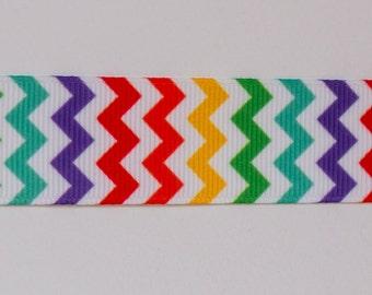 Chevron ribbon- rainbow