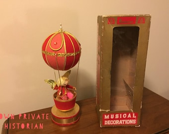 1960s - Angel In Hot Air Balloon- Revolves & Musical - JC Penny's