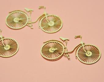 Bike Chipboard SET OF 3 pieces. Bicycle Die Cut #3598