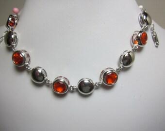 Spessartite Garnet Simulant Bracelet