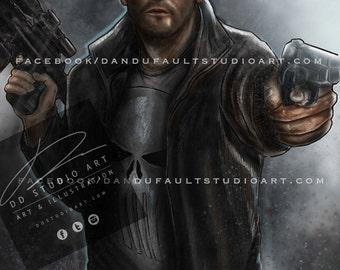 "Punisher, 11x17"" Artist Signed Print"
