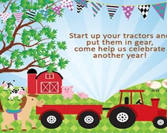 Immediate Download: Farm invitation 4x6