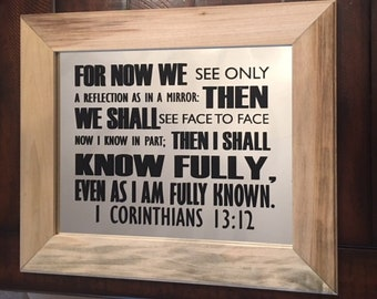 Reformed Theology, Scripture Mirror Home Decor, Religious Wall Art