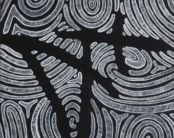 Fingerprints - conceptual fine art acrylic painting, identity, who you are, leave a mark