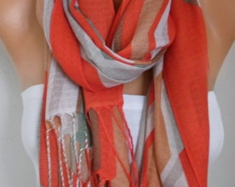Easter Gift,Red Cotton Scarf, Fall Shawl, Cowl, Wrap,bridesmaid gift,bridal scarf Gift Ideas For Her Women Fashion Accessories Women Scarves