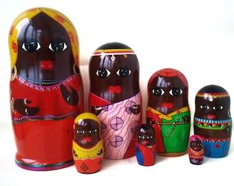 Matryoshka Doll African doll