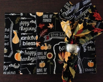 Thanksgiving Fabric Napkins ( set of 4)