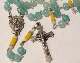 School Rosary with Pencils *Catholic,Christian,prayer,chaplet,school,crucifix,teacher gift,senior year,graduation gift,unique gift