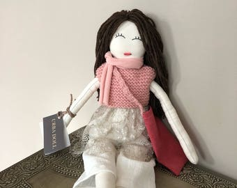 Doll and Toys, Dolls, Artisan Doll, Rag Doll, Handcrafted  Eco Friendly Doll, Handmade Doll, Limited Edition Doll, OOAK Doll, Fabric Dolls