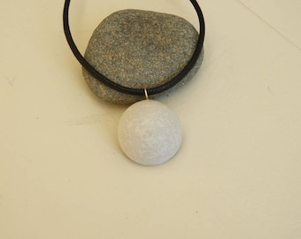 Necklace cabochon short fancy creative concrete - concrete jewelry - modern necklace - necklace for her - gift for woman
