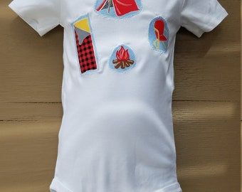 Size 24 Months Camping Fun Onesie READY to Ship