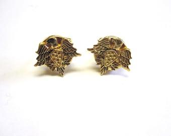 Eagle Cuff Links Cowboy Western Cufflinks Gold Bird