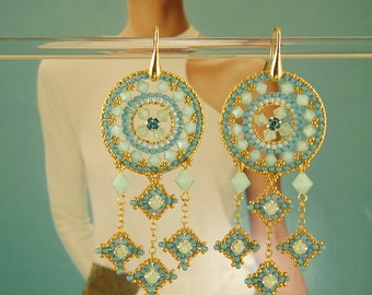 Tribal chic , earrings tutorial step by step